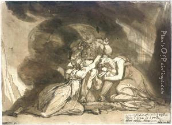 Oedipus Announcing His Death Oil Painting - Johann Henry Fuseli