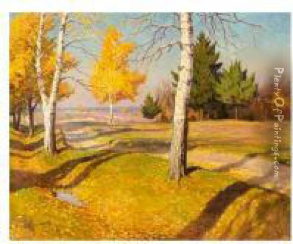 Indian Summer Oil Painting - Mikhail Markianovich Germanshev