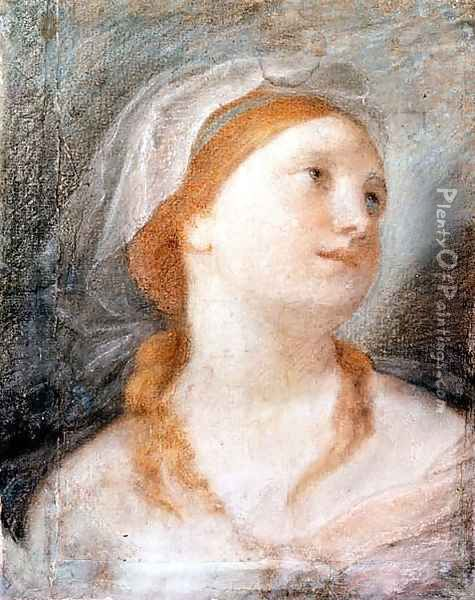 Study of the Head of a Young Woman with Red Hair Oil Painting - Giuseppe Maria Crespi