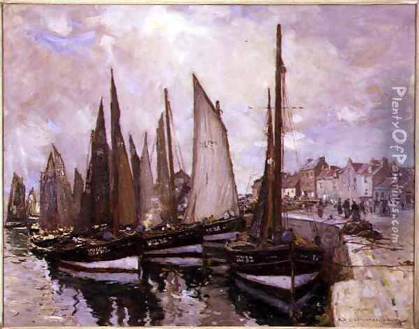 The Harbour, Pittenweem Oil Painting - Robert McGowan Coventry