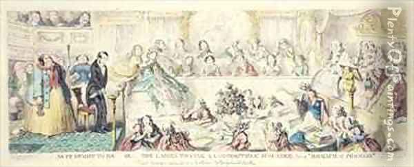 The Breach of Promise cartoon hand coloured etching Oil Painting - George Cruikshank I