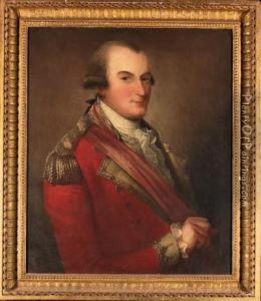 Portrait Of Colonel Donald Campbell Oil Painting - David Martin