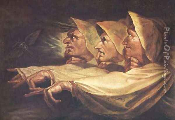 The Three Witches Oil Painting - Johann Henry Fuseli
