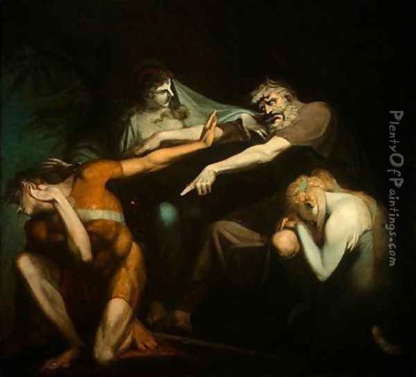 Oedipus Cursing His Son, Polynices Oil Painting - Johann Henry Fuseli