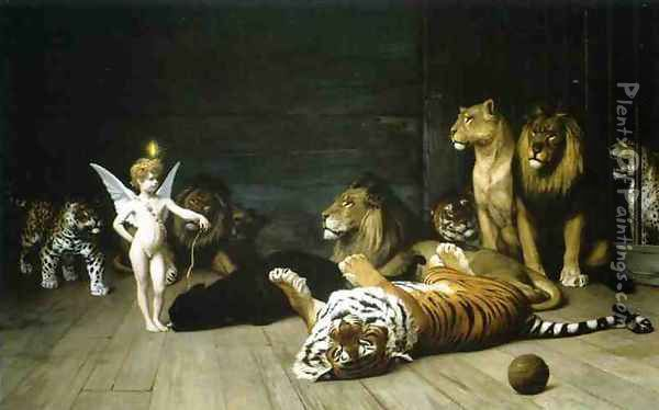 Love Conquers All Oil Painting - Jean-Leon Gerome