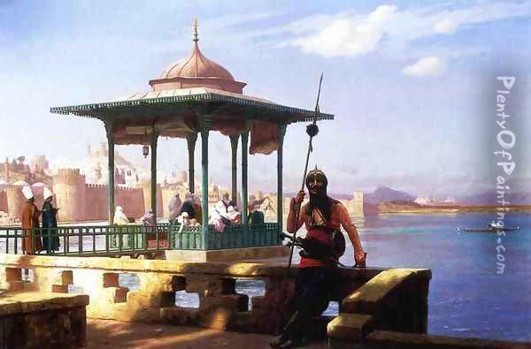 The Harem in a Kiosk Oil Painting - Jean-Leon Gerome