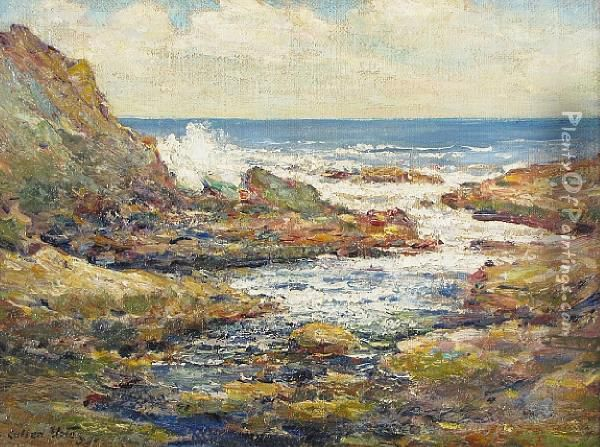 Coastal View Oil Painting - Cullen Yates