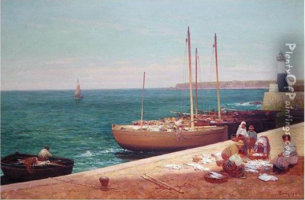 Pittenweem, Fife Oil Painting - Alexander Young