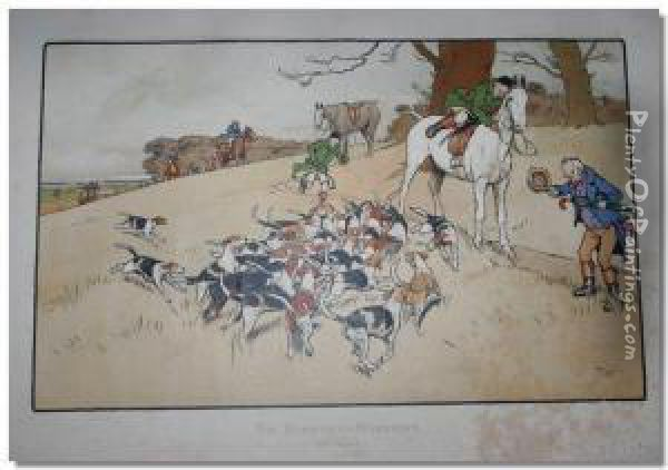 Harefield Harriers Oil Painting - Cecil Charles Aldin