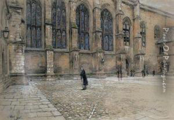 Winchester College Oil Painting - Cecil Charles Aldin