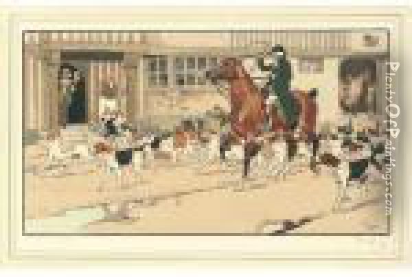 Stopping Off At The Inn; And Drawn Blank Oil Painting - Cecil Charles Aldin