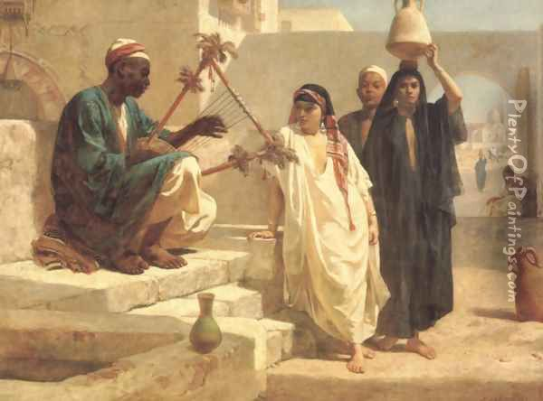 The Song of the Nubian Slave Oil Painting - Frederick Goodall