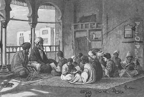 The School of Sultan Hassan Oil Painting - Frederick Goodall