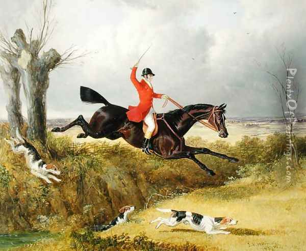 Clearing a Ditch, 1839 Oil Painting - John Frederick Herring Snr