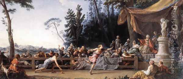 The Race between Hippomenes and Atalanta 1762-65 Oil Painting - Noel Halle