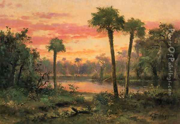 Palm Grove, Florida Oil Painting - George Frank Higgins