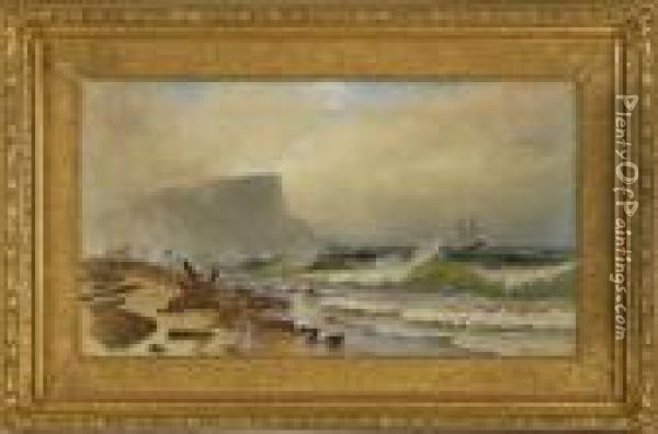 Stormy Seas Off Grand Manan Oil Painting - Alfred Thompson Bricher