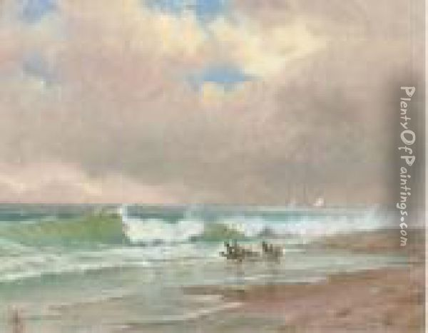 Seascape, Sketch # 16 Oil Painting - Alfred Thompson Bricher