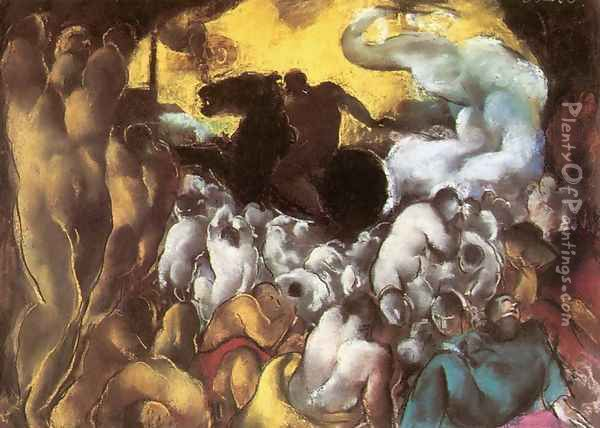 Biblical scene 1929 Oil Painting - David Jandi
