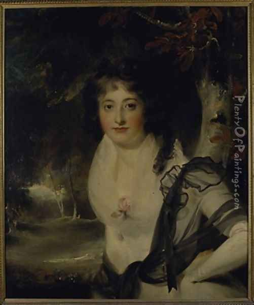 Portrait of Lady Charlotte Bentinck Oil Painting - Sir Thomas Lawrence