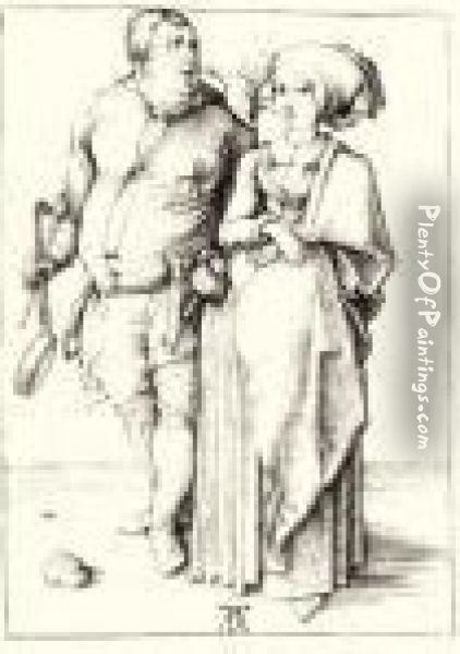 Cook And His Wife Oil Painting - Albrecht Durer