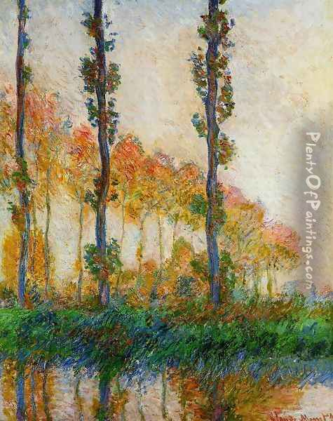 Three Trees In Autumn Oil Painting - Claude Oscar Monet
