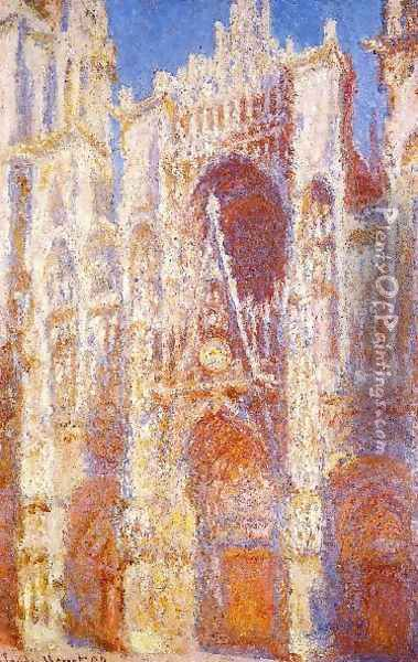 Rouen Cathedral The Portal In The Sun Oil Painting - Claude Oscar Monet