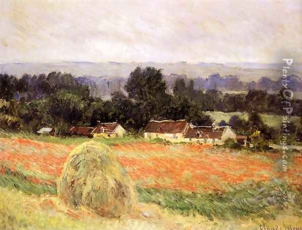 Haystack At Giverny Oil Painting - Claude Oscar Monet