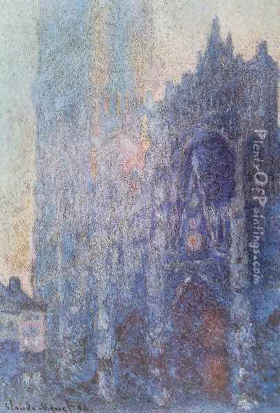 The Portal And The Tour D Albane At Dawn Oil Painting - Claude Oscar Monet