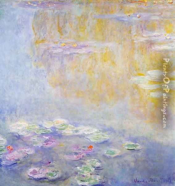 Water-Lilies7 1908 Oil Painting - Claude Oscar Monet