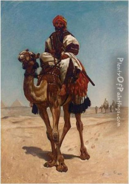 An Egyptian Sheikh Oil Painting - Frederick Goodall
