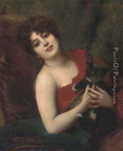 Dolce Farniente Oil Painting - Leon Herbo
