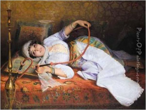 Odalisque Oil Painting - Leon Herbo