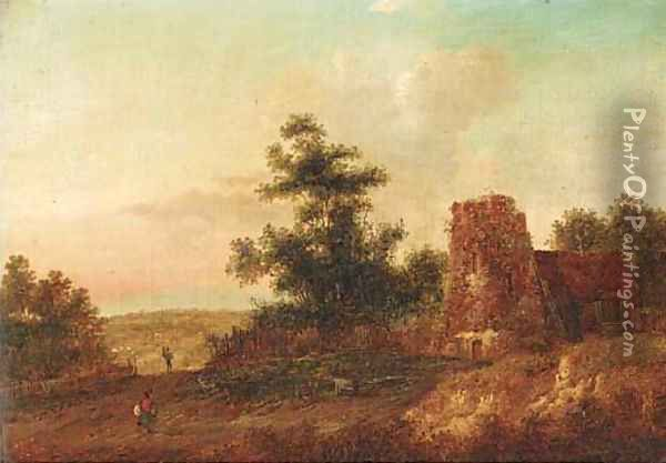 The old farm Oil Painting - Charles Morris