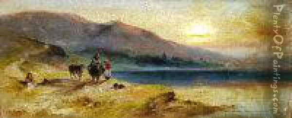 Sunset Coastal Scene With 