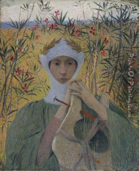 Clemence Isaure Oil Painting - Henri Martin