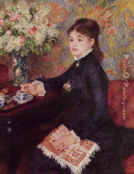 The Cup of Chocolate Oil Painting - Pierre Auguste Renoir
