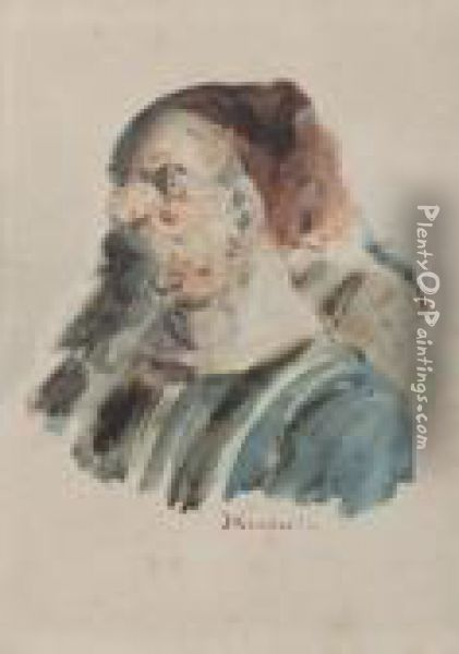 Le Zouave Oil Painting - Adolphe Joseph Th. Monticelli