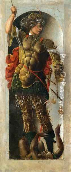 Griffoni Polyptych St Michael Oil Painting - Ercole de' Roberti