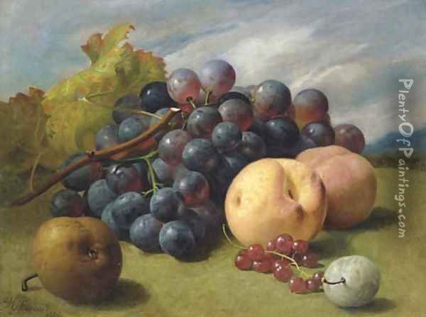 Still Life with Fruit in a Basket; Still Life with Fruit Oil Painting - Eloise Harriet Stannard