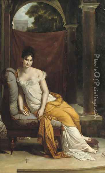 Madame Recamier Oil Painting - French School