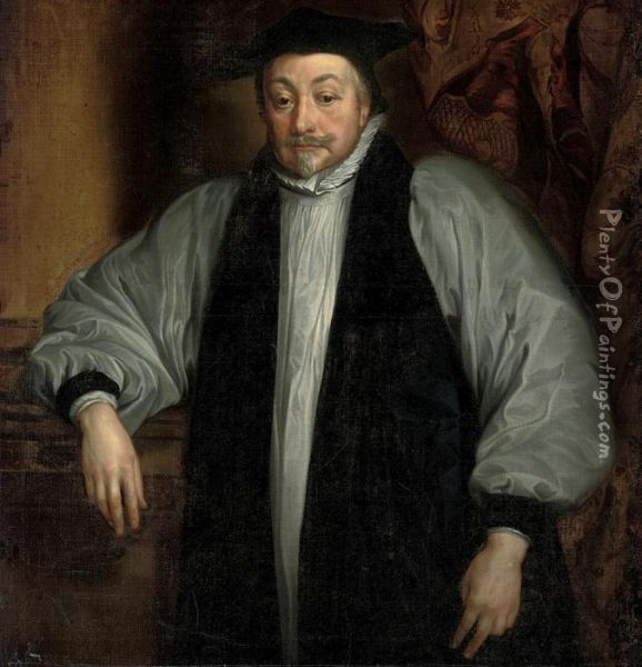 Portrait Of William Laud (1573-1645), Archbishop Of Canterbury Oil Painting - Sir Anthony Van Dyck