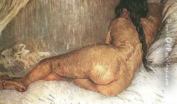 Nude Woman Reclining Seen From The Back Oil Painting - Vincent Van Gogh