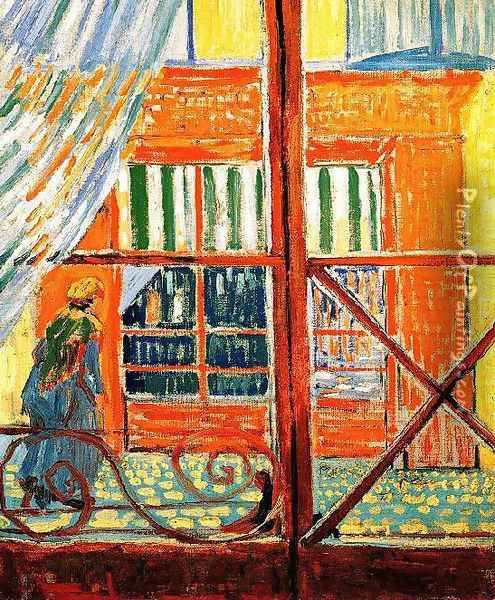 A Pork-Butchers Shop Seen from a Window Oil Painting - Vincent Van Gogh