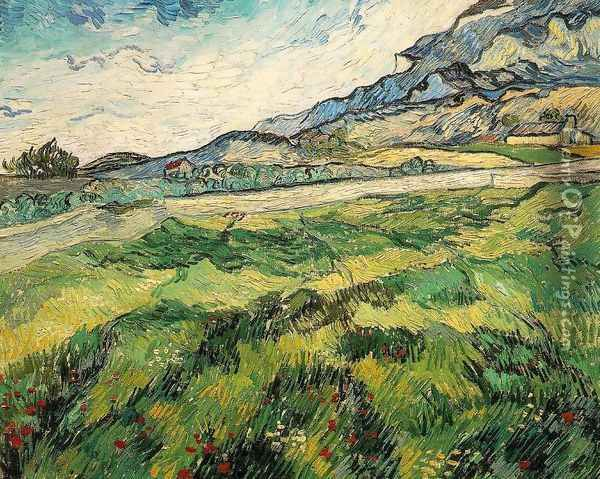 Green Wheat Field Oil Painting - Vincent Van Gogh