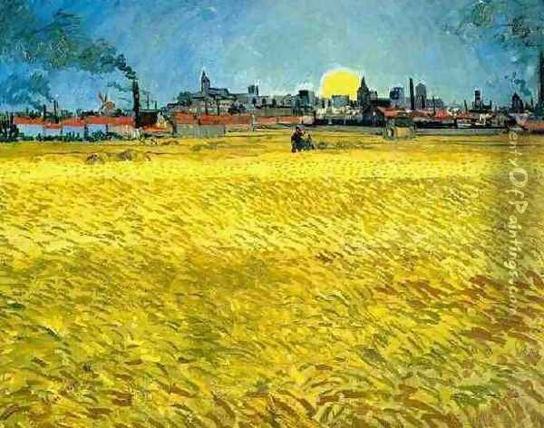 Wheat Fields Near Arles Oil Painting - Vincent Van Gogh