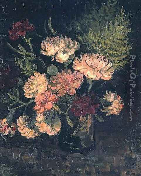 Vase With Carnations III Oil Painting - Vincent Van Gogh