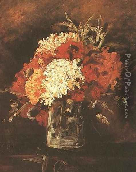 Vase With Carnations II Oil Painting - Vincent Van Gogh