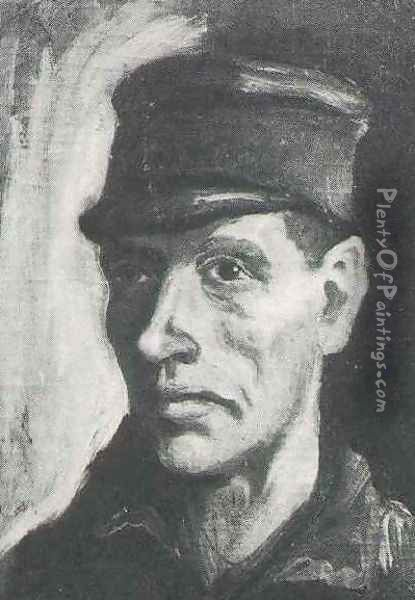 Head Of A Peasant With Cap II Oil Painting - Vincent Van Gogh