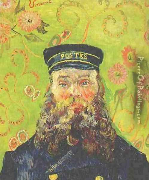 Portrait Of The Postman Joseph Roulin IV Oil Painting - Vincent Van Gogh